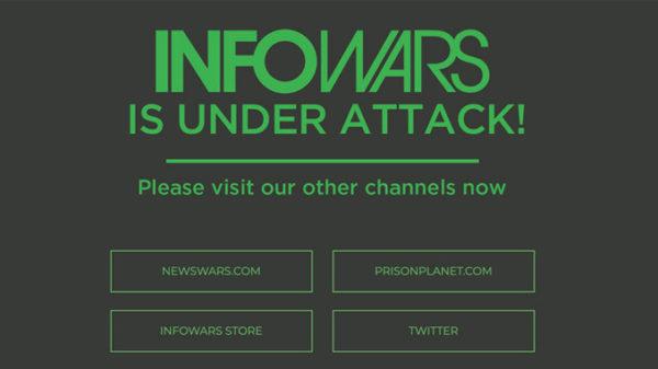 Infowars.com sattus tehnoloogiafirmade rünnaku alla