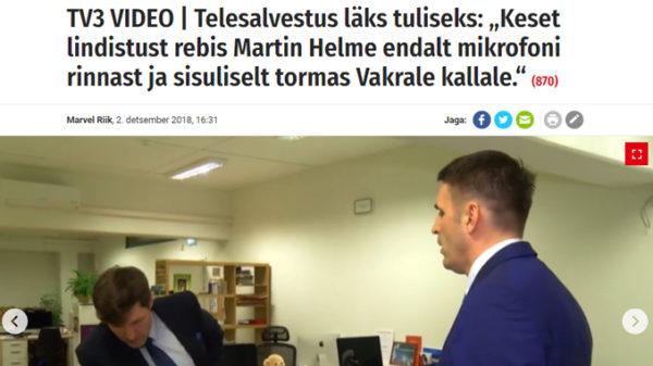 Peavoolumeedia libauudis: Martin Helme ründas Rainer Vakrat