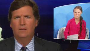 Tucker Carlson: Greta Thunberg on võimuhaarajate inimkilp