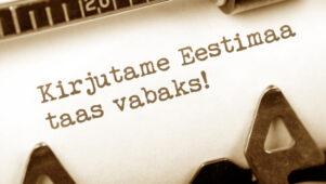 """Ühine aktsiooniga """"Kirjutame Eestimaa taas vabaks"""""""